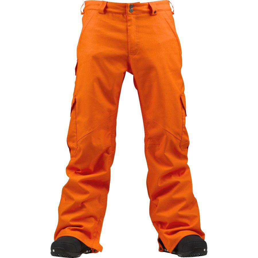 Burton Men S Cargo Snowboard Pant In Clockwork Orange Snowboard Pants Snowboard Outdoor Sports Gear