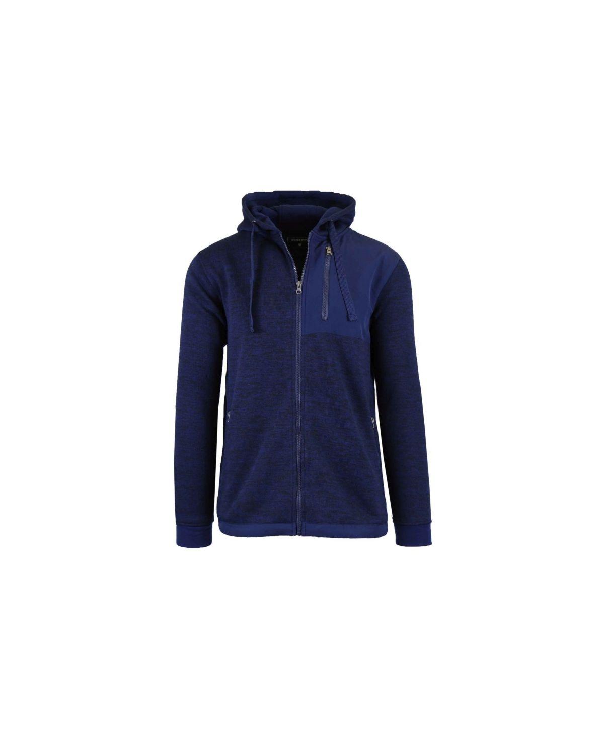 Galaxy By Harvic Men S Marled Zip Hoodie Navy Hoodies Sweatshirts Hoodie Zip Hoodie [ 1467 x 1200 Pixel ]