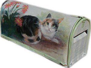 Cat In Bread Box Adorable Maibox Paintedlynn Risor  Kitty Stuff We Love  Pinterest  Cat Design Inspiration