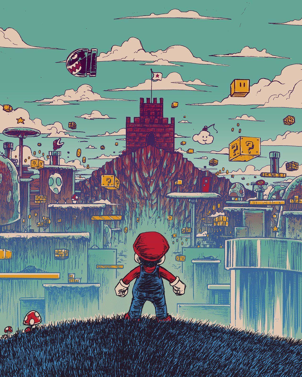 Level Headed Mario Created By Barry Blankenship Super Mario Art Mario Art Art