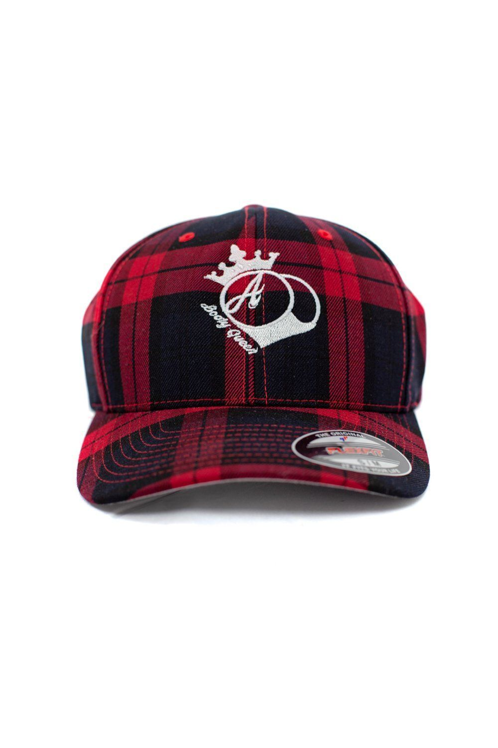 Hats bootyqueen plaid fitted hat fitted hats womens
