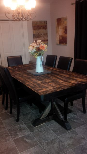 DIY Wood Table - Reader's Projects - www.shanty-2-chic.com
