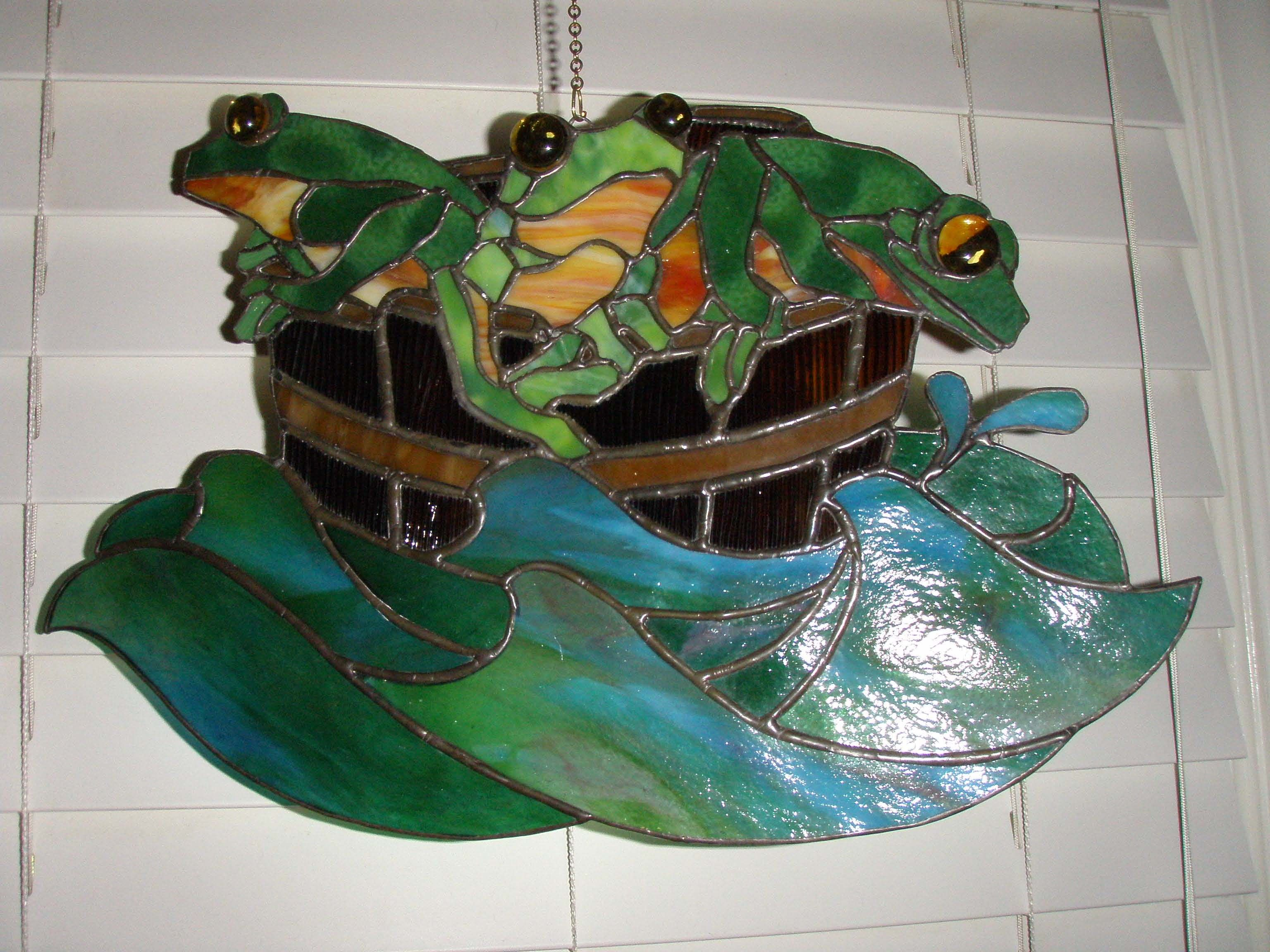 Pin on Stain Glass frogs