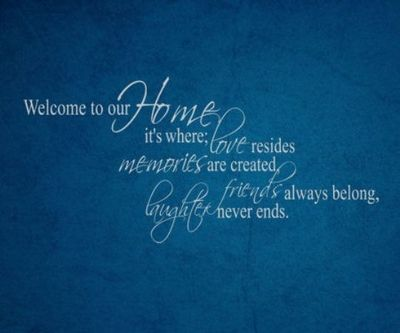 24 Heartwarming Welcome Home Quotes | Live by Inspirational Words | Welcome home quotes, Welcome ...