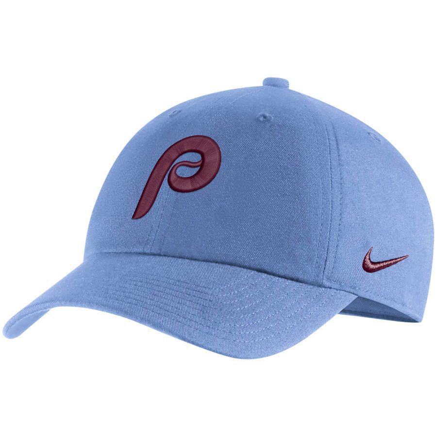9173221e017 Men s Philadelphia Phillies Nike Light Blue MLB Heritage 86 Adjustable Hat