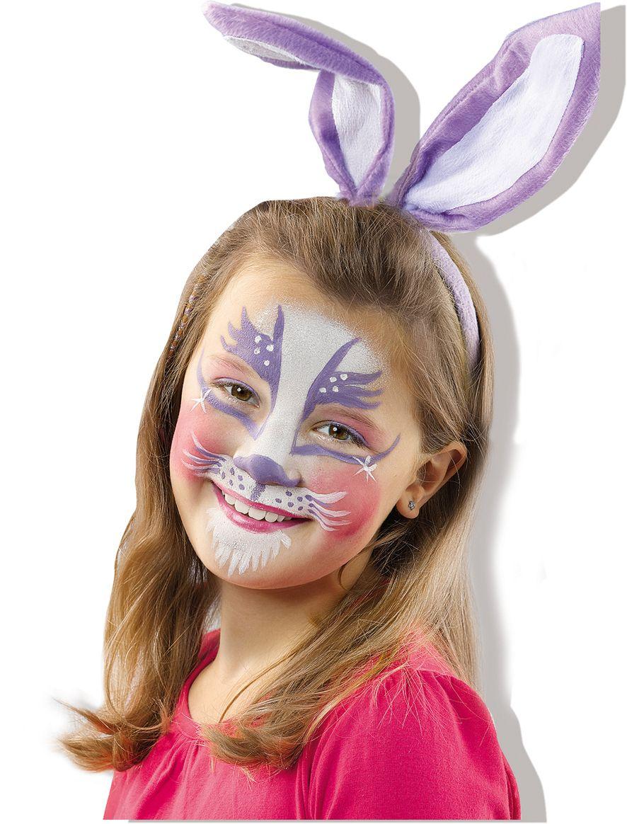 Aqua face paint clowny facepaint rabbit schmink