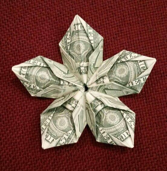 Star Flower Money Origami Money Origami Origami Money