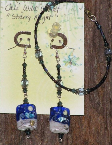 'Starry Night' Earrings and Bracelet