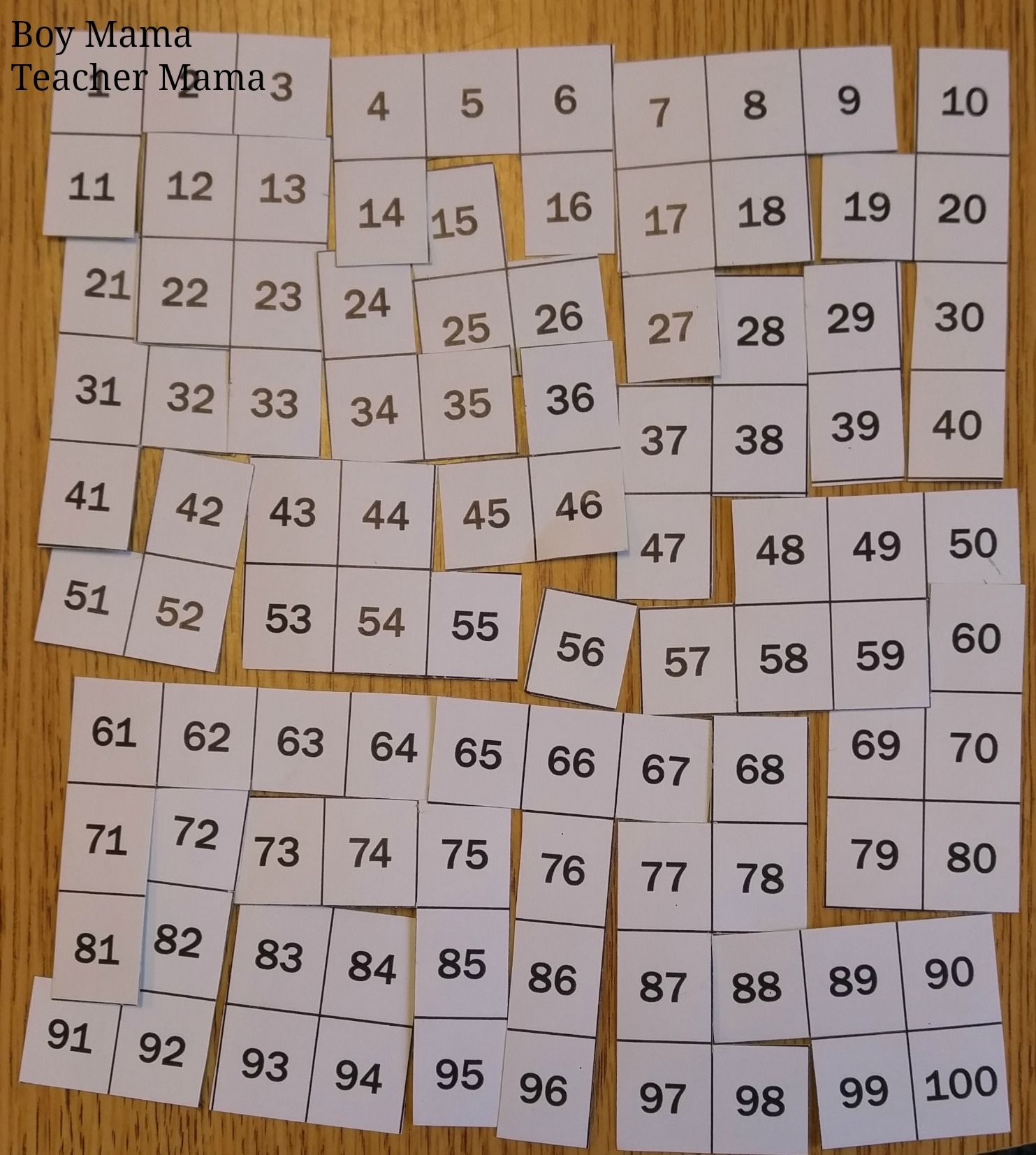 Teacher Mama Free 100s Chart Puzzles After School Linky