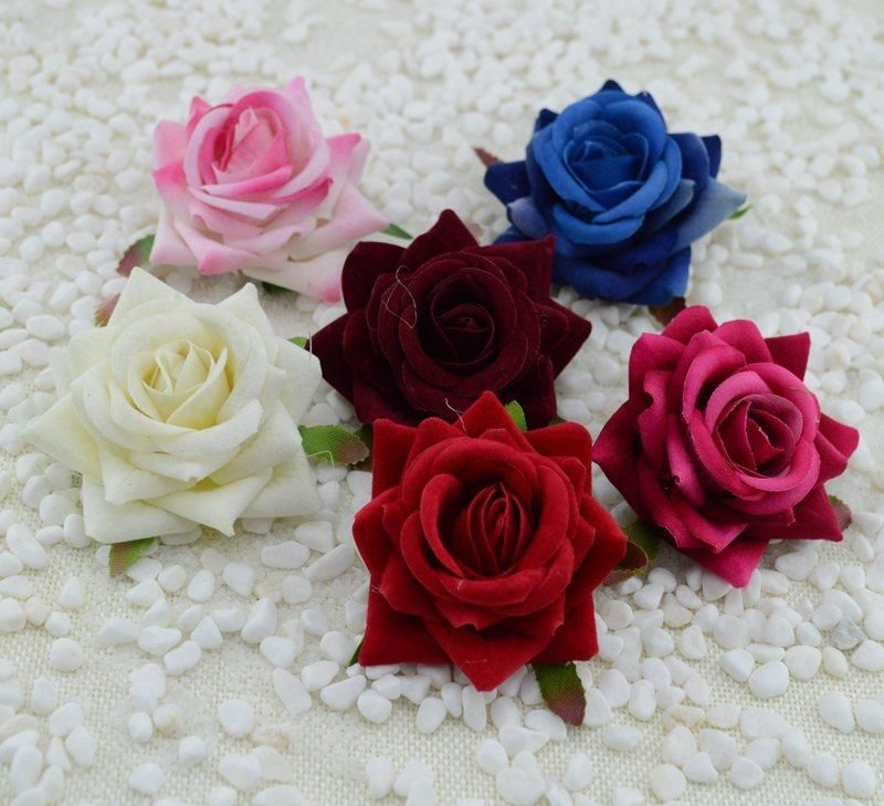 Visit To Buy Flannel Crimping Simulation Roses Wholesale Wedding