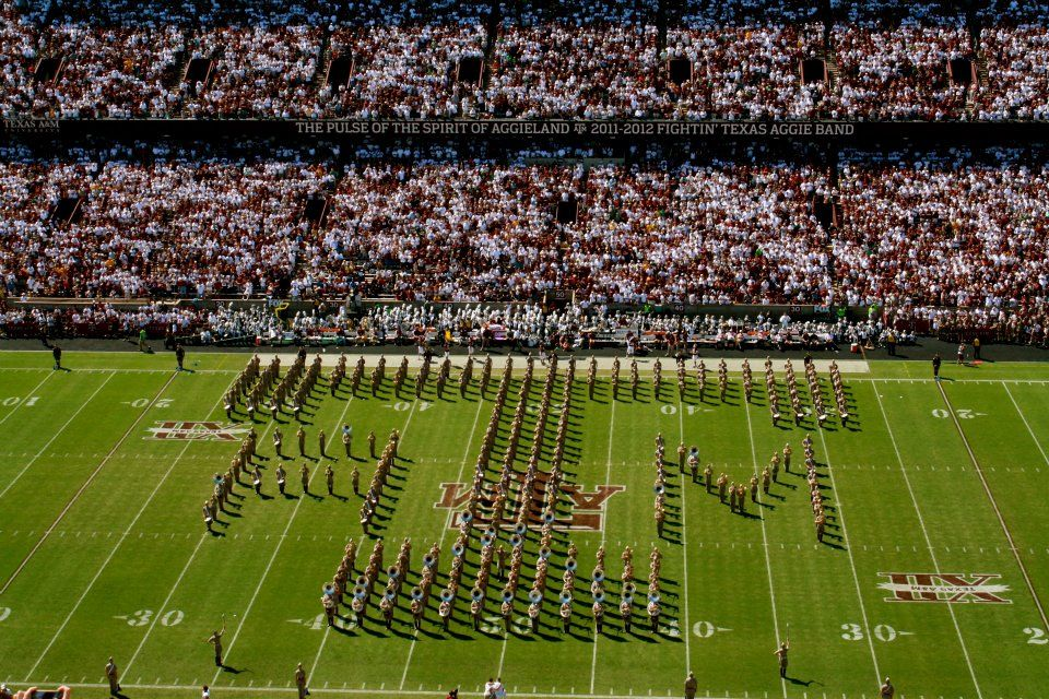 The One Of A Kind Fightin Texas Aggie Fta Band Learn These Words For Gamedays Now Forming At The North End Of Kyle With Images Texas Aggies Kyle Field Gig Em Aggies
