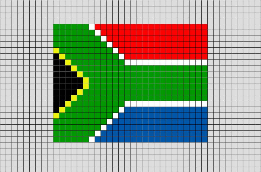 Flag Of South Africa Pixel Art Pixel Art South African Flag Flag Cross Stitch
