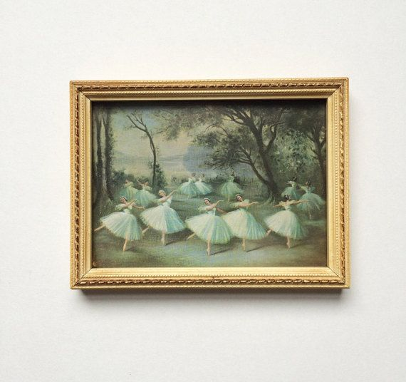 Miniature Carlotta Edwards framed ballerina print by ...