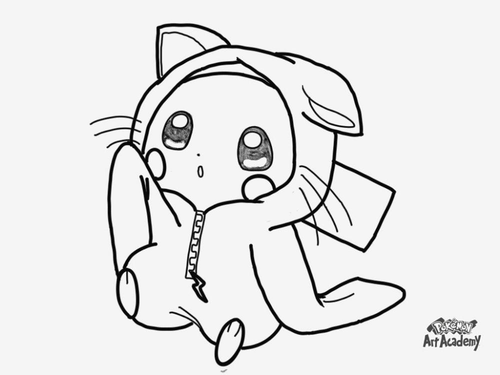 Coloriage Pikachu à Colorier Dessin à Imprimer Coloriage