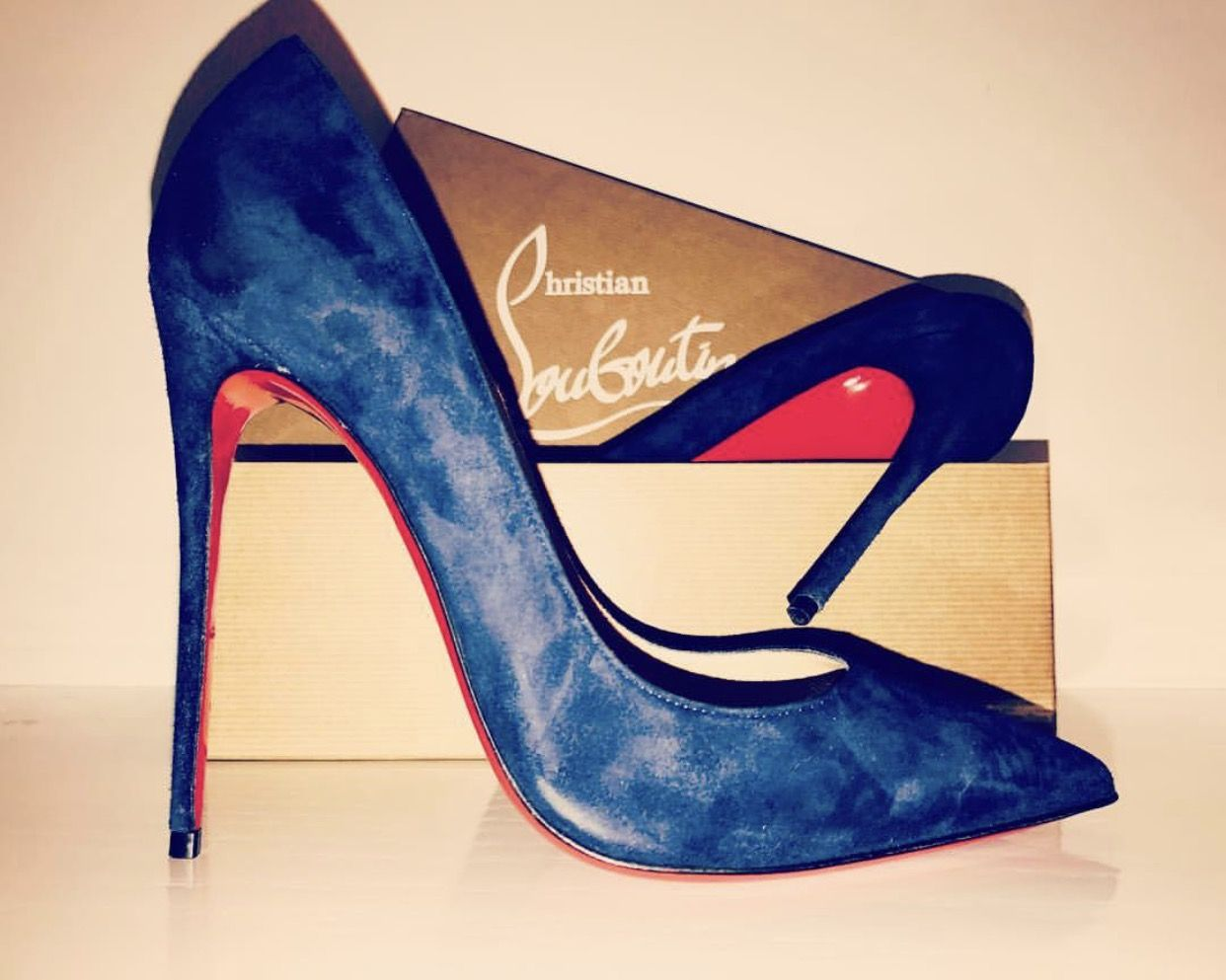 Pump 12 Cm Louboutin Blue Dark Shoes VeauChaussures uOiwPkXZT