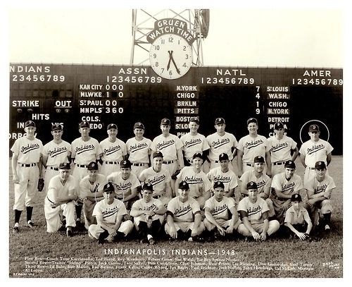 1948 Indianapolis Indians Team This Aaa Indians Team Was Loaded With Talent Even If They Didnt Exactly Have Any Superstars Indianapolis Indiana Scoreboard