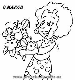 Women S Day Coloring Pages For Kids Preschool And
