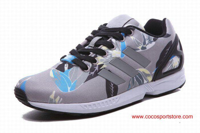 6e2d19496fa1d ... promo code for adidas zx flux floral light grey blue womens originals  ff25e e27a0