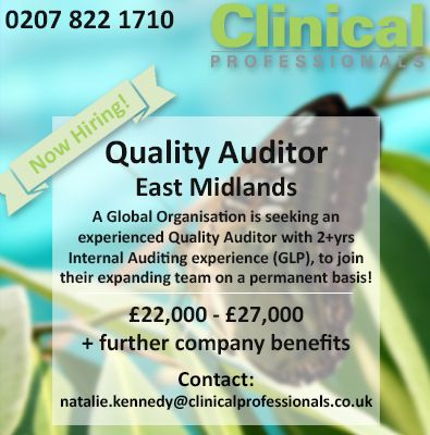 Now Hiring Now Hiring Quality Auditor Jobs Qa Pharmaceutical