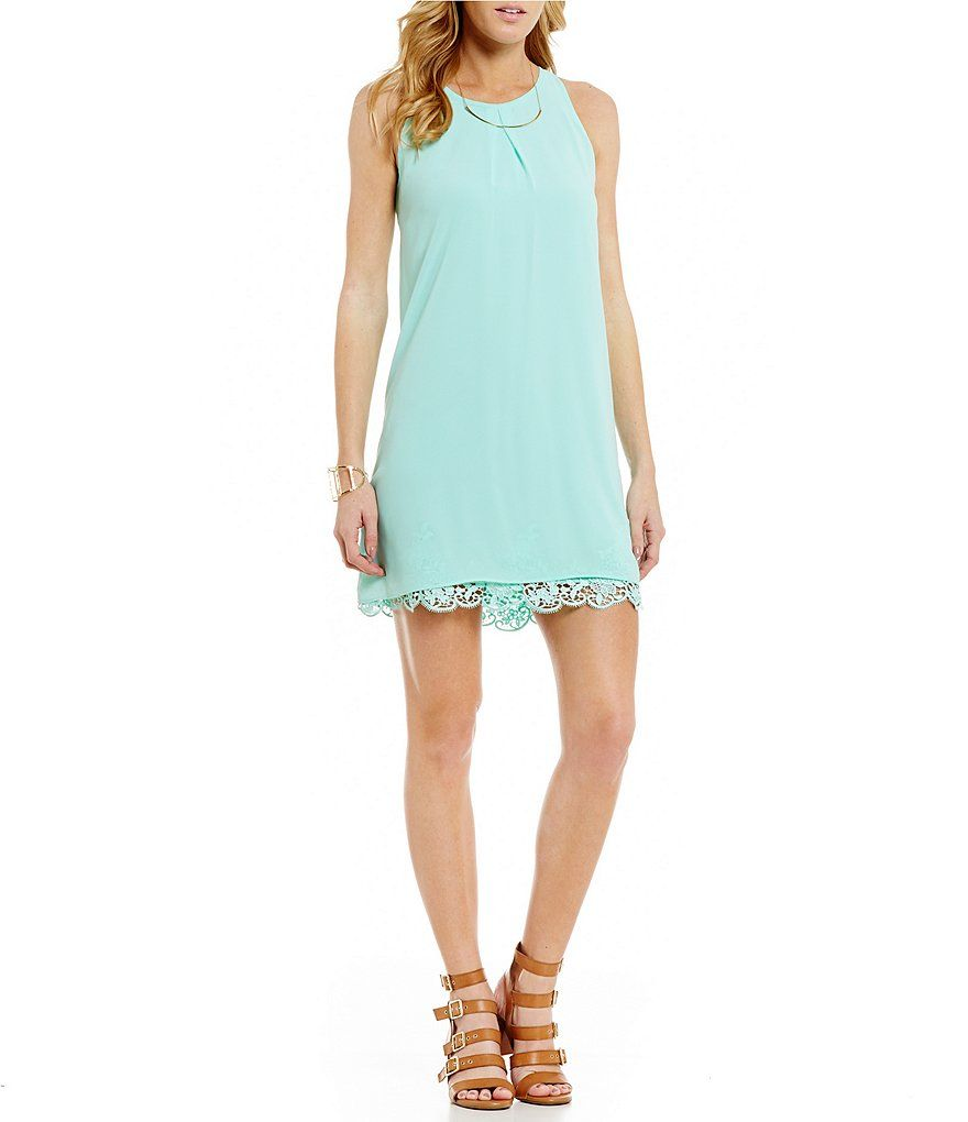 I.N. San Francisco Crochet Trim Shift Dress | Dillards, San ...