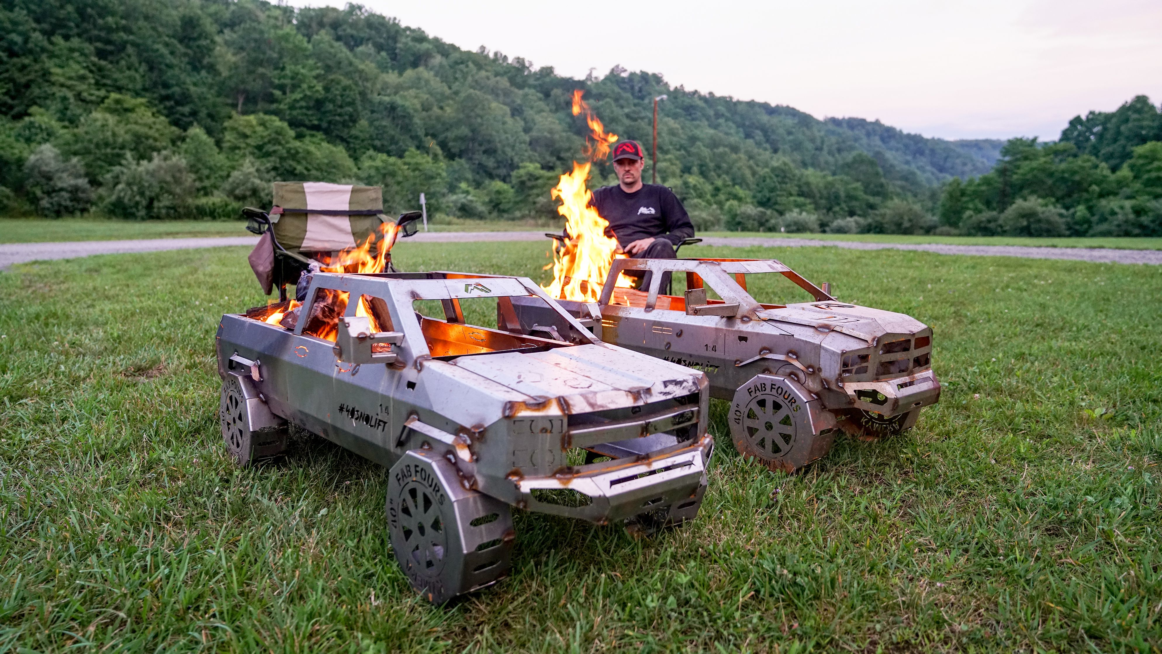 Available now nationwide the fab fours truck fire pit is