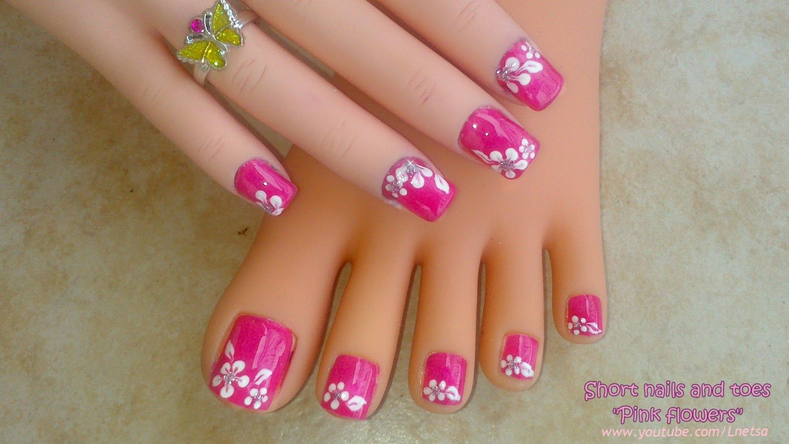 Flower toe nail designs | Nail Designs on blog online | Nail Art ...