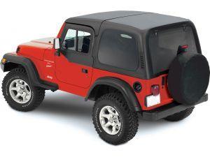 Smittybilt Jeep Wrangler Replacement Top W Upper Door Skins Spice Denim 9870217 87 95 Jeep Wrangler Yj W Factory Soft Top Half Doors Jeep Wrangler Soft Top Jeep Wrangler Yj Soft Tops