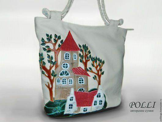 802ae6f9133e Сумка кожаная. Женская сумка. Кожаная женская сумка. Кожаная сумка с  аппликацией. Аппликация