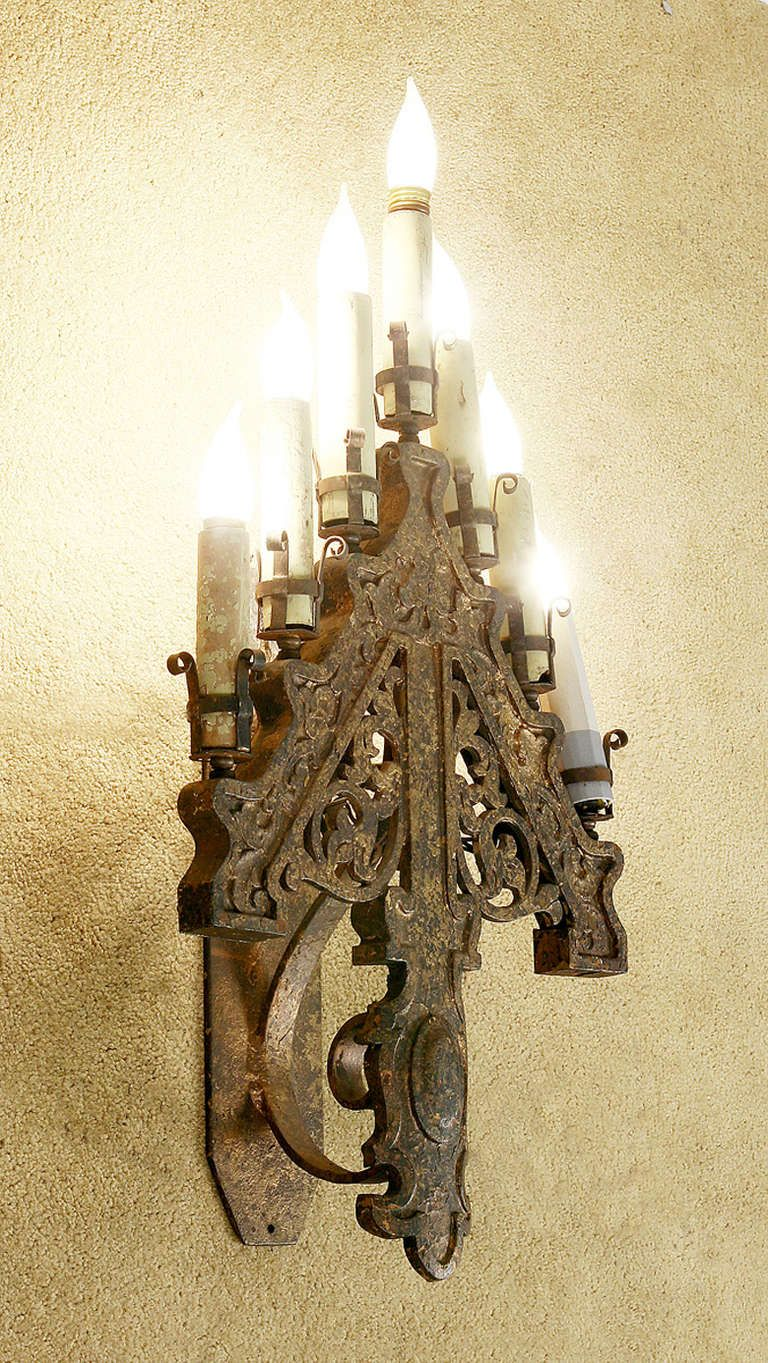 Late victorian french gothic style candelabra wall sconces late victorian french gothic style candelabra wall sconces image 2 aloadofball Gallery