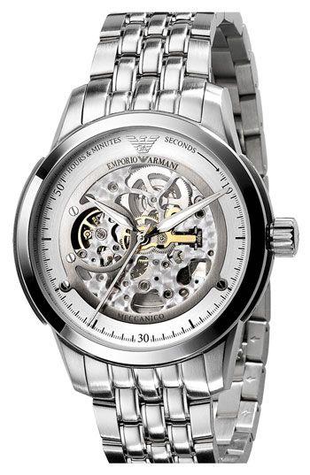 Наручные часы Emporio Armani скелетоны