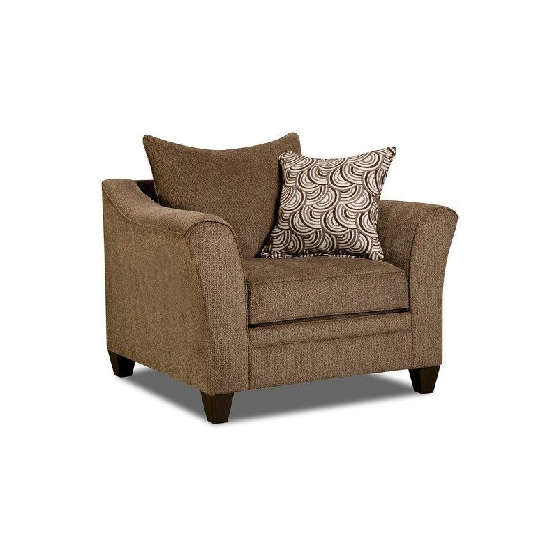 Simmons Upholstery Albany Truffle Chair Tan Fabric