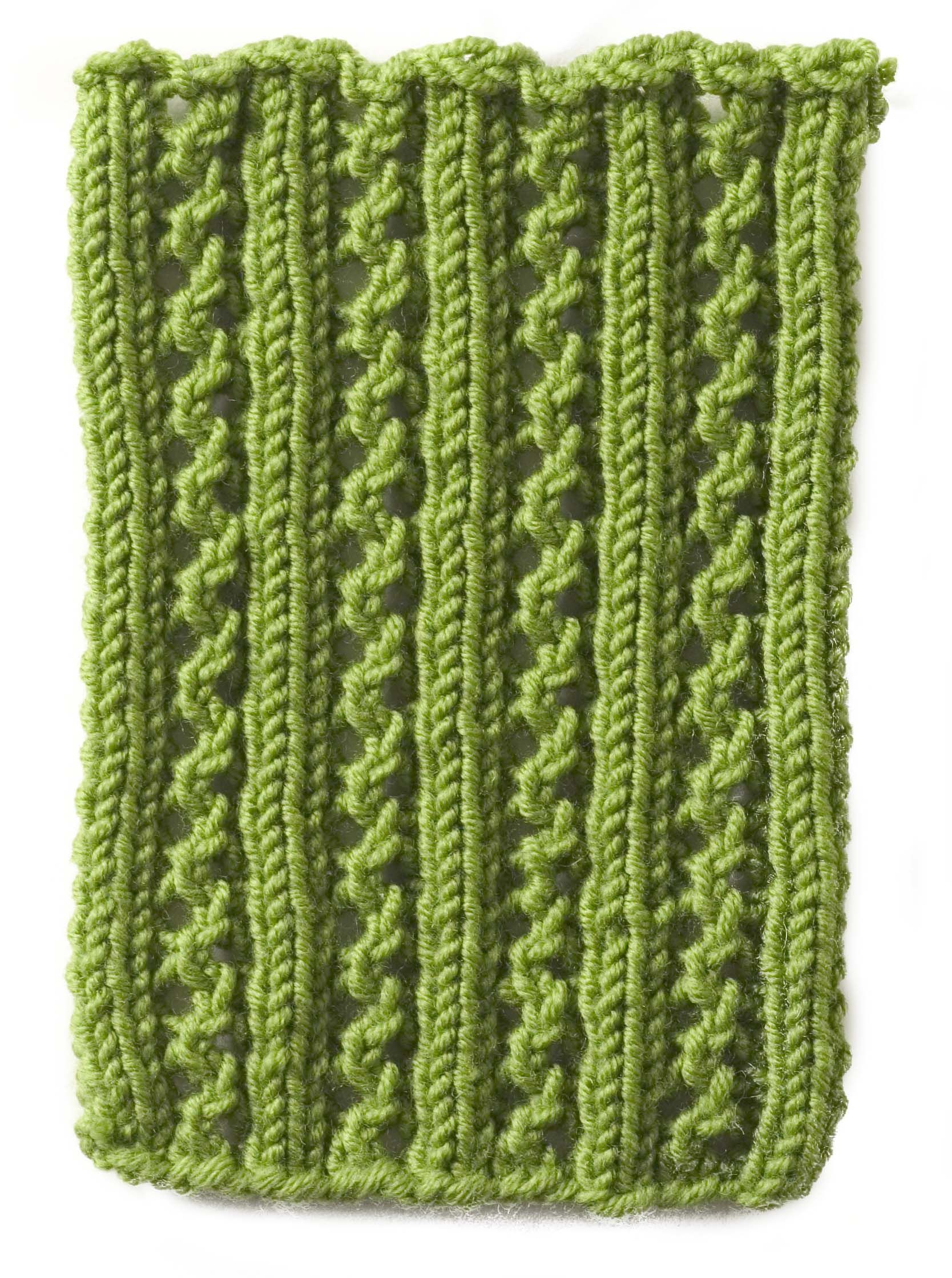 Stitchfinder : Knitting Pattern: Lace Rib : Frequently-Asked ...