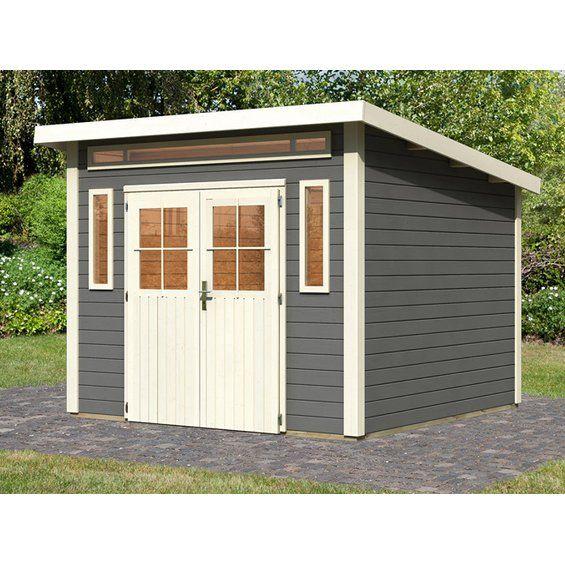 Holz Gartenhaus Fonn Terragrau 274 Cm X 274 Cm