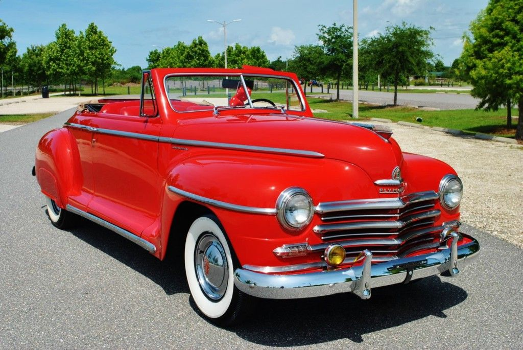 Big Red 1948 Plymouth Special Deluxe Convertible