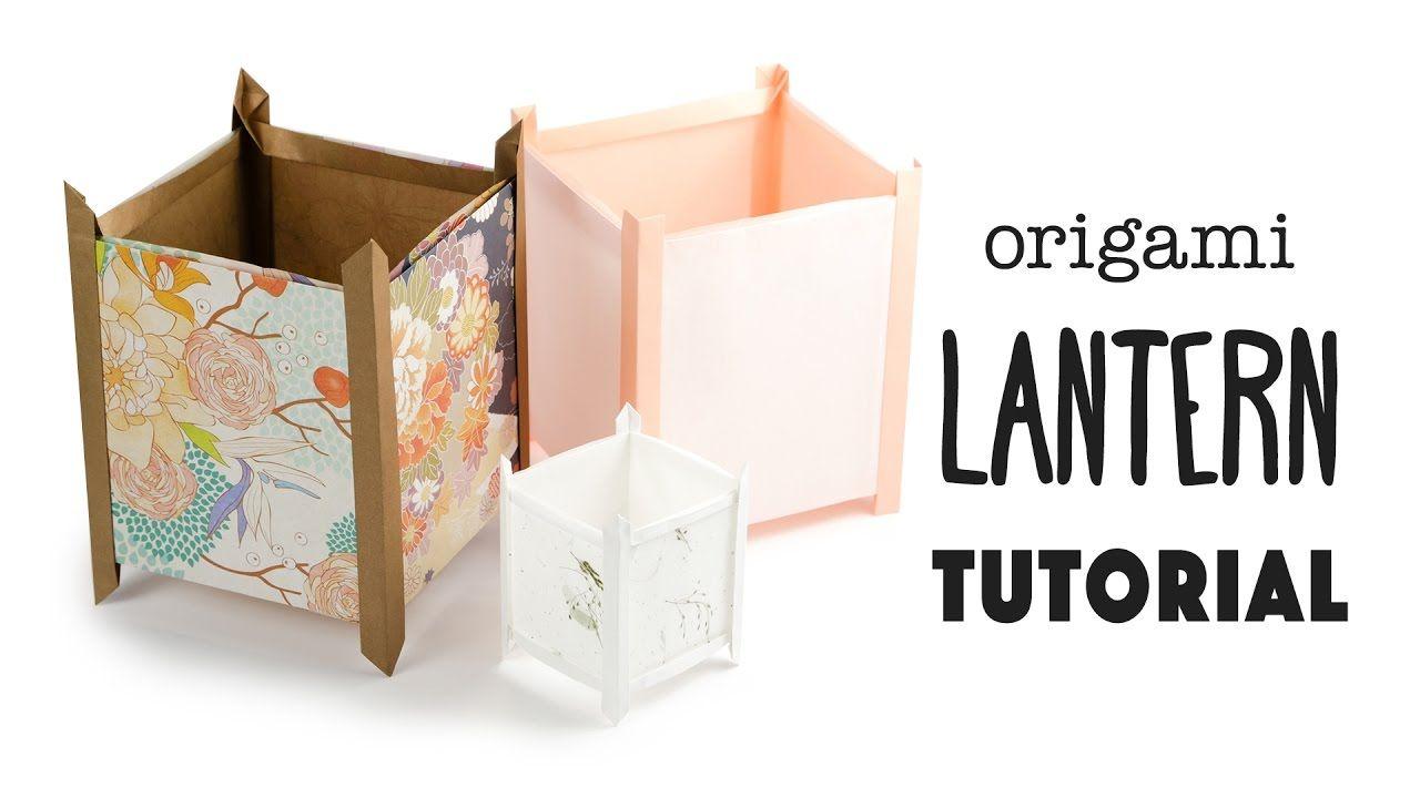 Origami lantern tutorial japanese andon lampshade for Paper lantern tutorial