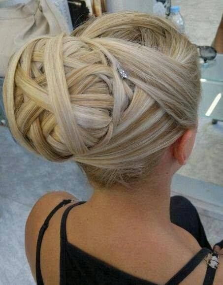 Hairstyle 2015 6 longs cheveux blonds petites m ches - Chignon original ...