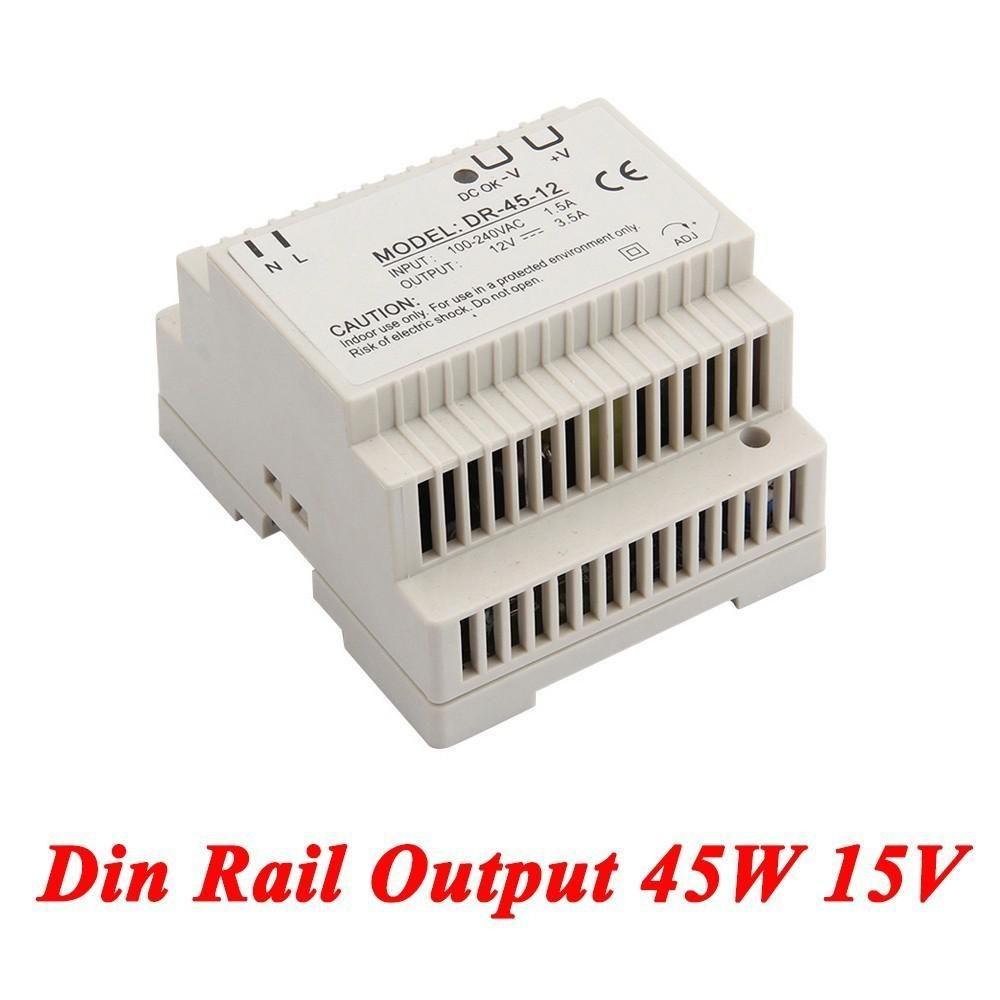 Dr 45 Din Rail Power Supply 45w 15v 28aswitching Ac Dc Regulator Non Transformer 110v 220v To 15vac Converter Yesterdays Price Us 971 852 Eur