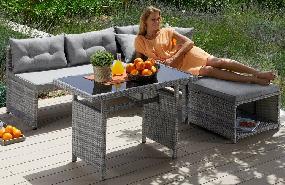 Konifera Loungeset Catania Ecklounge Fur 4 Pesonen Geeignet Online Kaufen Otto Gartenmobel Sets Lounge Mobel Loungemobel Garten