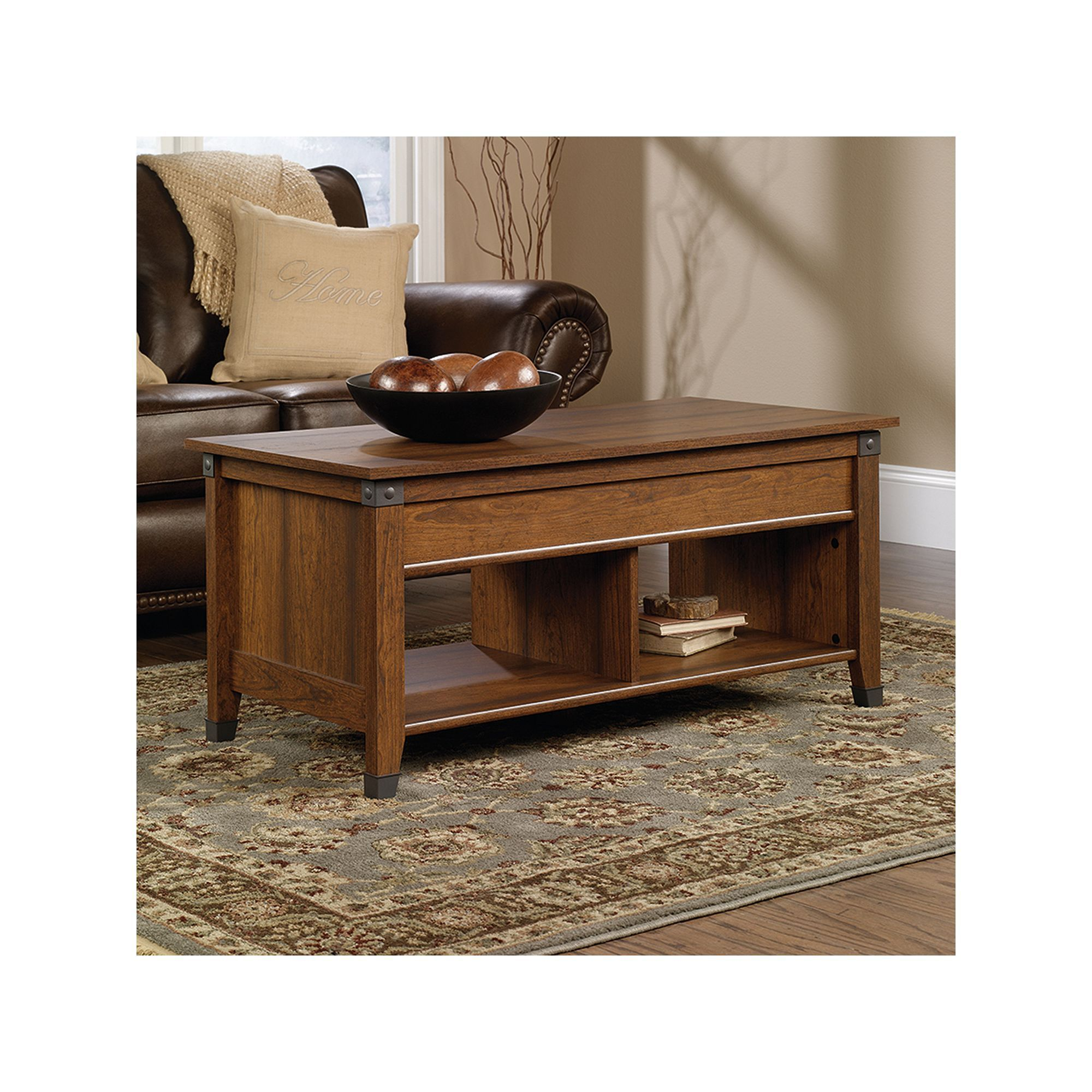 Sauder Carson Forge Collection Storage Coffee Table In 2021 Coffee Table Wood Cool Coffee Tables Coffee Table With Storage [ 2000 x 2000 Pixel ]
