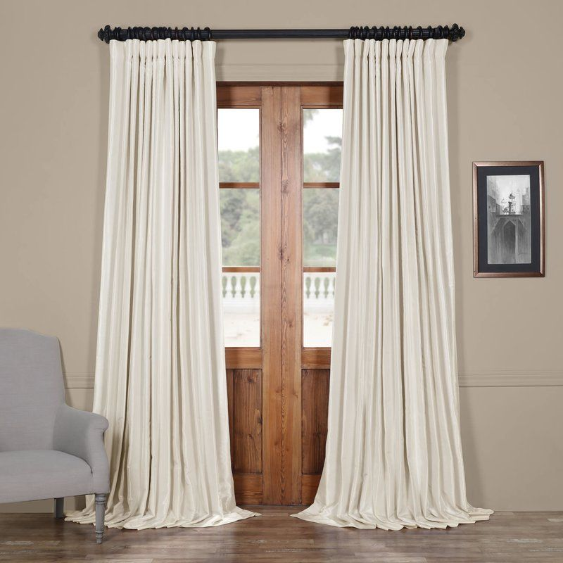 Extra Wide Solid Blackout Thermal Rod Pocket Single Curtain Panel