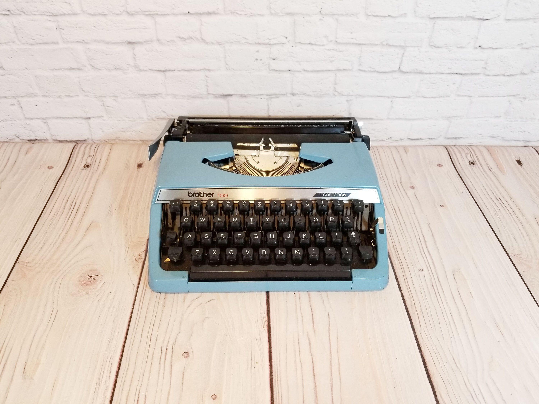 Vintage Working Light Blue Brother Charger 11 Correction Etsy Work Lights Working Typewriter Typewriter