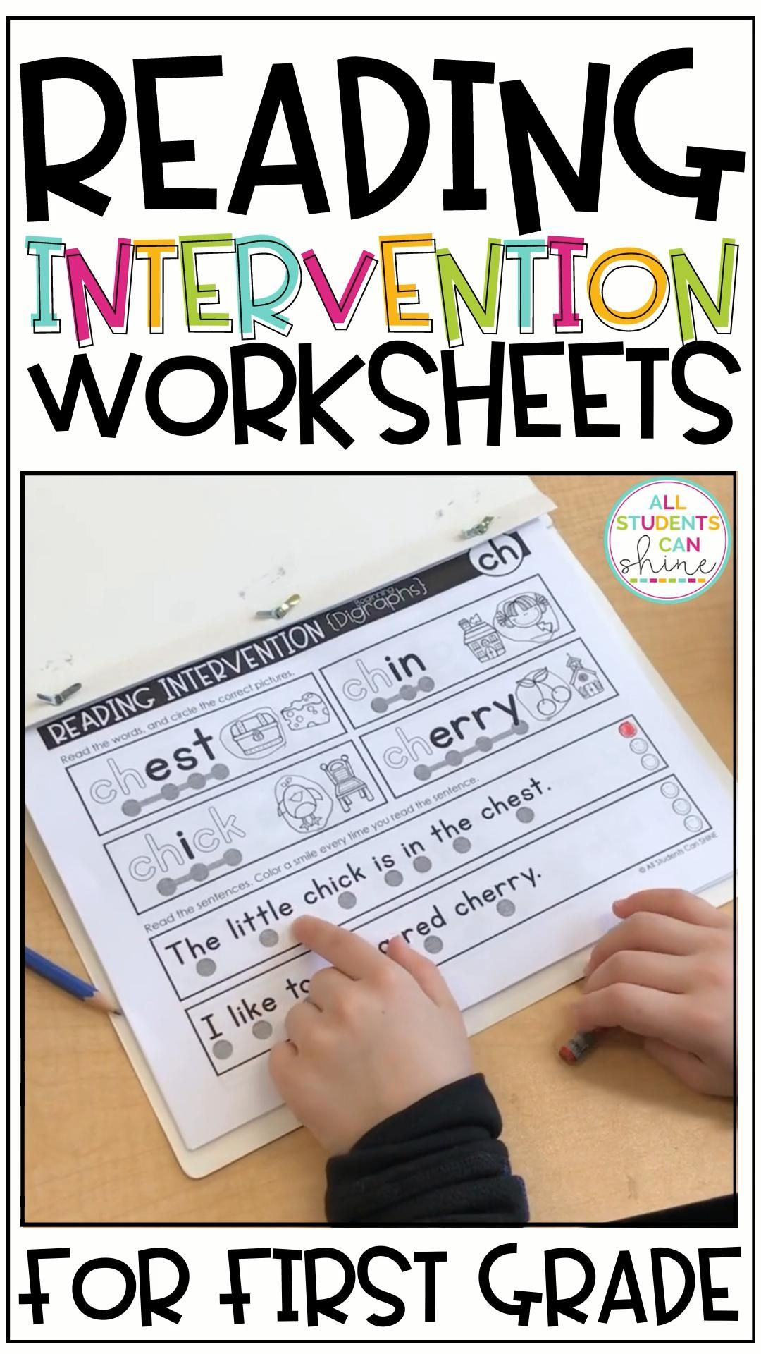First Grade Reading Intervention Resources
