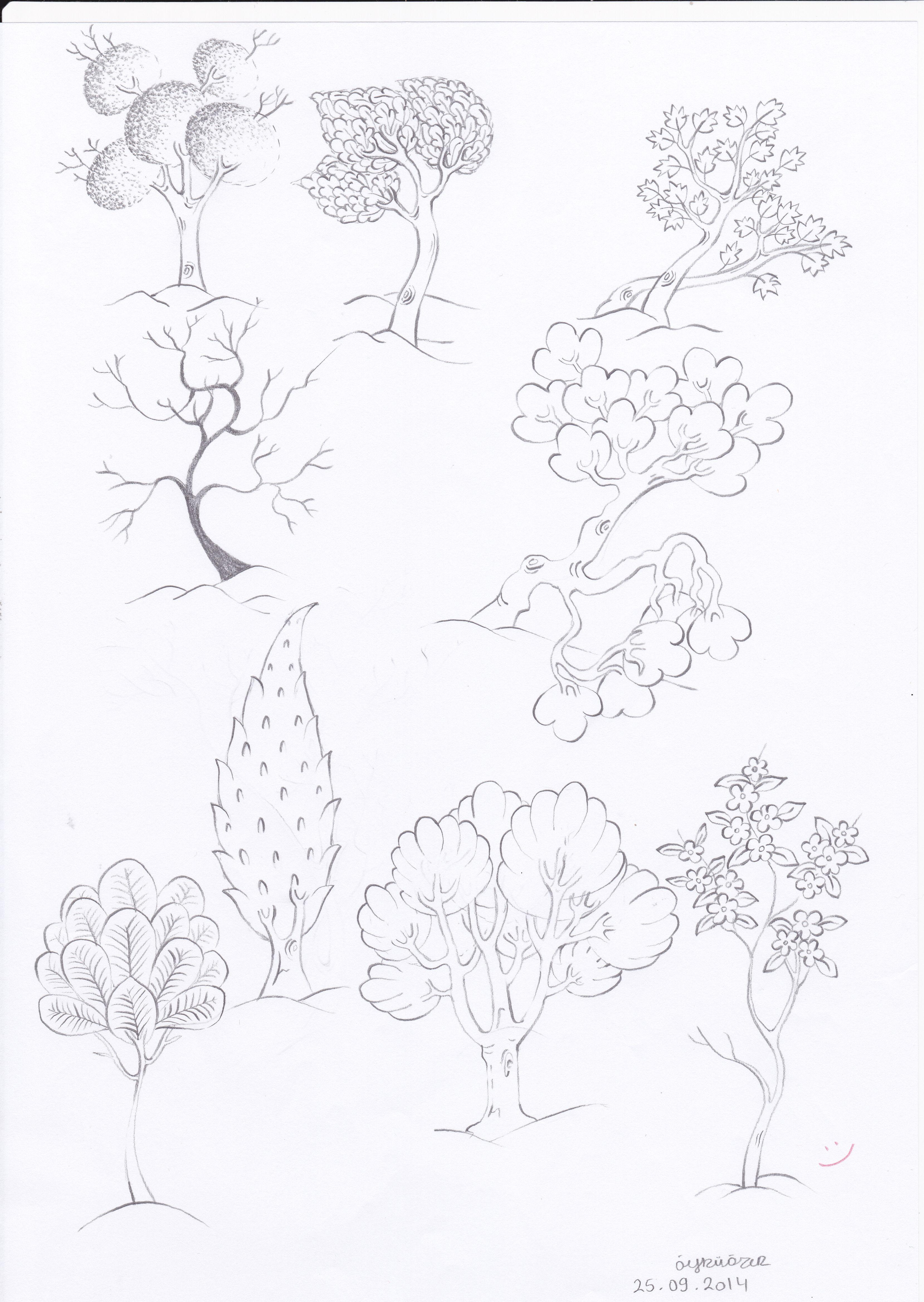 Trees 5 | Ellos | Pinterest | Hierba, Esquemas y Naturaleza