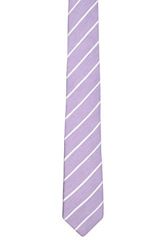Linen Slim necktie - Thin, white stripes on sand coloured linen - Notch DJINGIS Notch