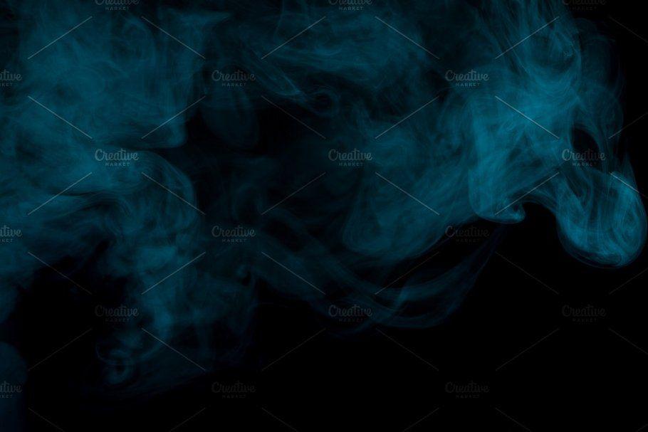 Abstract Aquamarine Smoke Hookah Aquamarine Abstract Smoke
