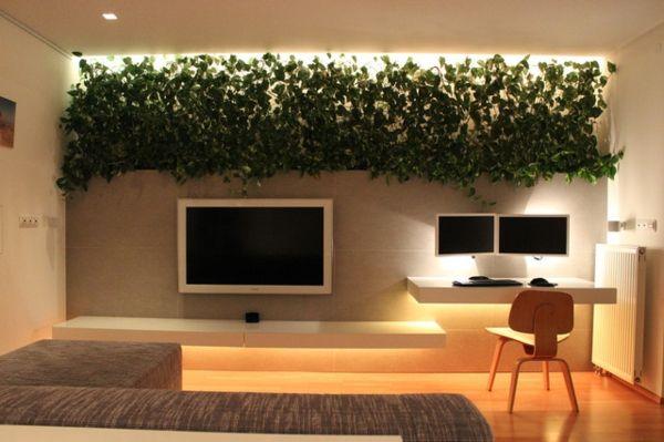 Bepflanztes minimalistisches wohnzimmer sch nes zum leben pinterest - Minimalistisches wohnzimmer ...