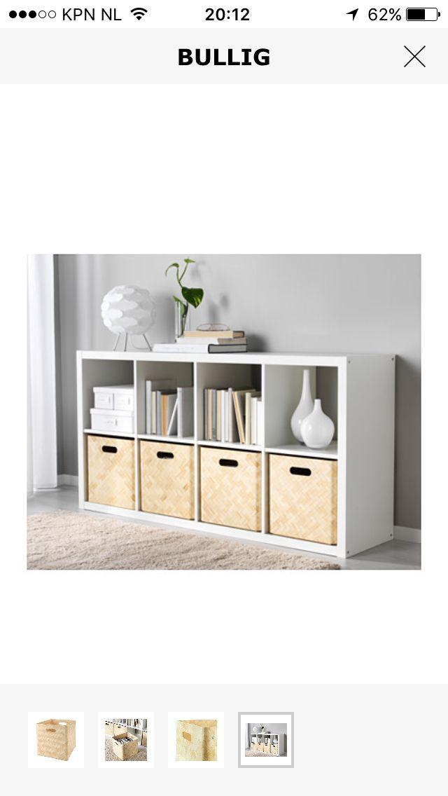 Ikea Kast Met Bullig Mand Home Office In 2019 Ideeën