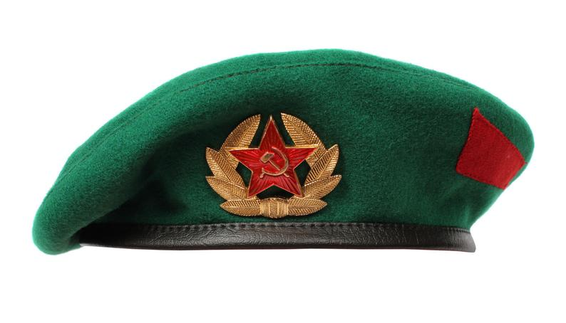 Soviet Military Border Troops Green Beret Hat Russian Army Etsy