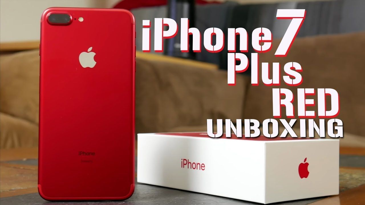 Iphone 7 Plus Red Unboxing It S Adorable Yet Iphonexunboxing Iphone 7 Plus Red Iphone 7 Plus Iphone