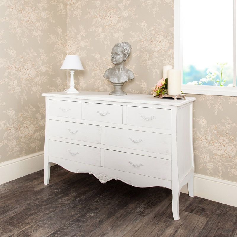 Large White Chest Of Drawers Jolie Range In 2019 Salvage Store